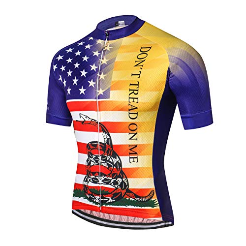 Men's Cycling Jersey Short Sleeve Men Bike Shirt Tops, M-XXXL, Comfortable, Breathable and Quick-Dry - Ride Mesh Jersey
