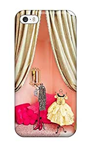 Excellent Iphone 5/5s Case Tpu Cover Back Skin Protector Girl8217s Room Dressing Area Or Play Stage With Pink Walls And Gold Curtains