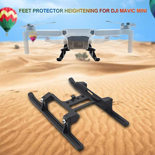 Extended Landing Gear Landing Feet Protector Heighten for DJI Mavic Mini, 15mm Increase No Need to Disassemble Suitable for Complex Terrain (Black)