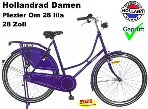 28 1 Vitesse Violet V/élo de Confort avec Panier Bicyclette Femme V/élo de Ville Retro Vintage Milord