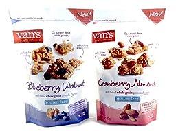 Vans Cranberry and Blueberry Granola Clusters Bundle (11oz bag of each)