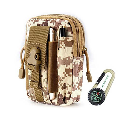 DOUN Outdoor Tactical Holster Universal Multipurpose Tactical Cover EDC Security Pack Carry Case Pouch Belt Waist Bag for iPhone 7 plus Samsung LG HTC Sony Smartphone (Desert - Sunglass Desert