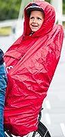 Hamax Rain Poncho - Waterproof and Windproof Child Bike Seat Cover with Hood