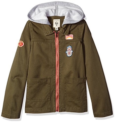 Billabong Girls' Big Found You Military Inspired Jacket with Fleece Hood, CTN XS ()