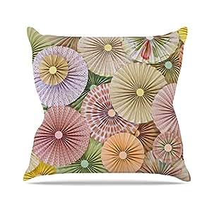 "KESS inhouse hj1094aop0318Heidi, 45,7x 45,7Jennings Pastel, diseño abstracto de primavera ""Cojín Manta de exterior, multicolor"