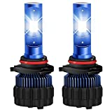 #9: Win Power 9012 LED Headlight Conversion Kit All-in-One CSP LED Chips 6000K 8000LM Cool White Built-in Drivers Canbus Automobile Headlight Bulbs- 2 Year Warranty(M11 Series)