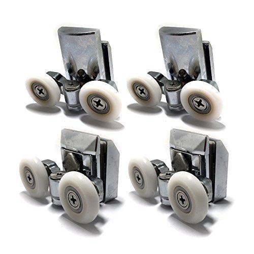 Smooth Zinc Alloy Shower Door Runners 23mm Twin Shower Door Rollers 2top 2bottom 4pcs