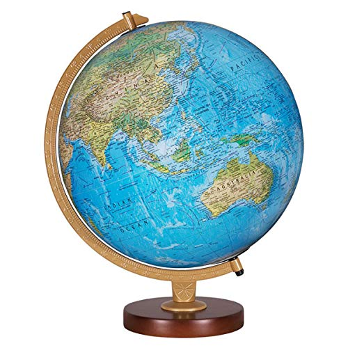 Replogle Globes Livingston Globe, 12-Inch, Blue Illuminated with two way map, Made in USA