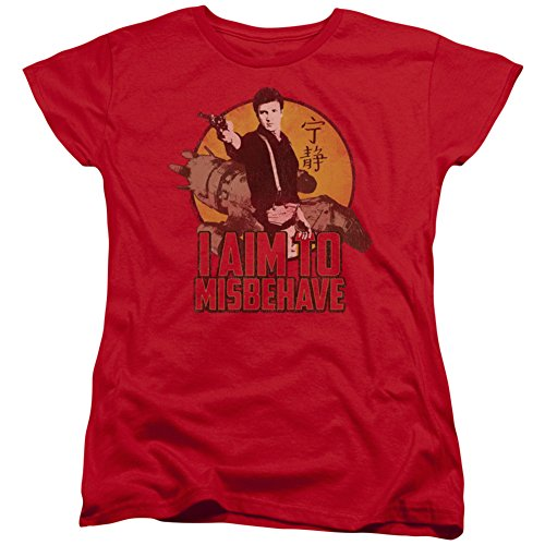 Womans: Firefly- Aim To Misbehave Ladies T-Shirt Size XXL -