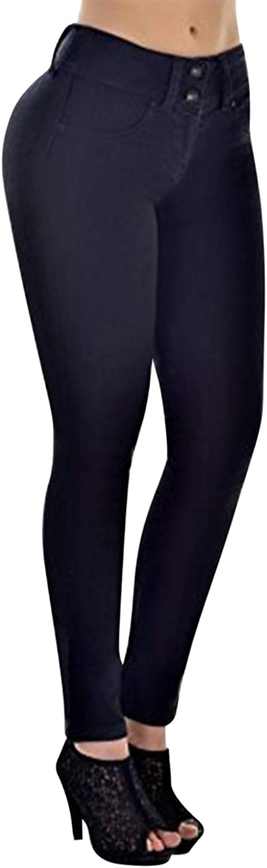 semen Pantalon Jean Femmes Pant Denim Skinny Slim Taille Haute Casual Voyage Casual Souple Printemps