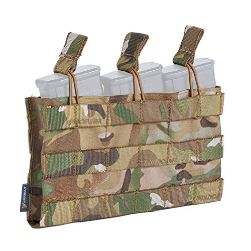 (IDOGEAR Open-Top Triple Mag Pouch 5.56mm MOLLE Mag Pouch for M4 M14 M16 Magazine (Multicam))