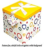 Gift Box 10''X10''X10'' - Garnier Collection - Easy to Assemble & Reusable - No Glue Required - Ribbon, Tissue Paper, and Gift Tag Included - EZ Gift Box by Endless Art US