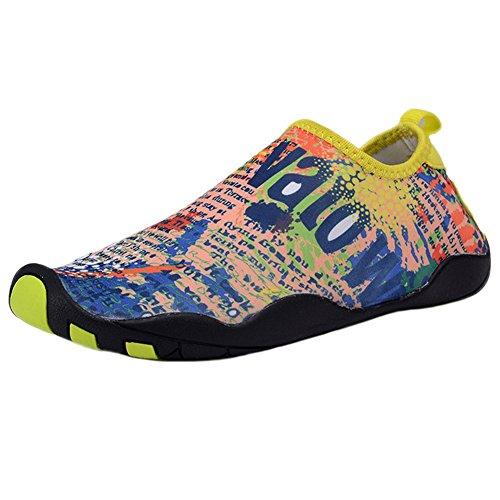 Zapatos De Agua Para Mujer Para Hombre Wave Pool Beach Swim Aqua Socks Yoga Unisex Ejercicio Deportivo Slip On Para Santimon Blue