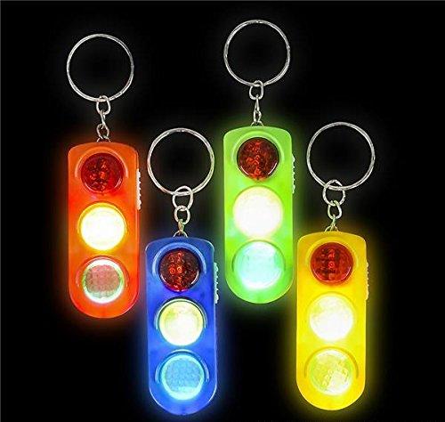 2''LIGHT-UP TRAFFIC LIGHT KEYCHAIN, Case of 12