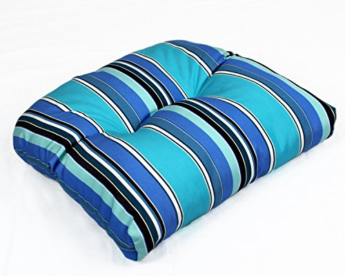 Sunbrella Outdoor/Indoor WICKER SEAT CUSHION by Comfort Classics Inc. ()