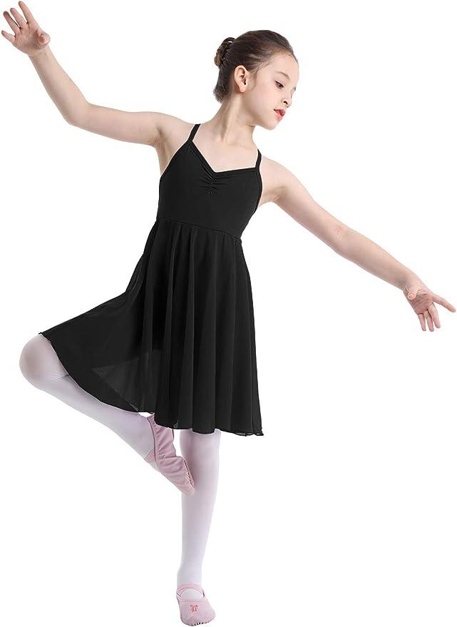 US Girls Ballet Dress Gymnastics Leotard Skirt Dance Wear Ballerina Swan Costume