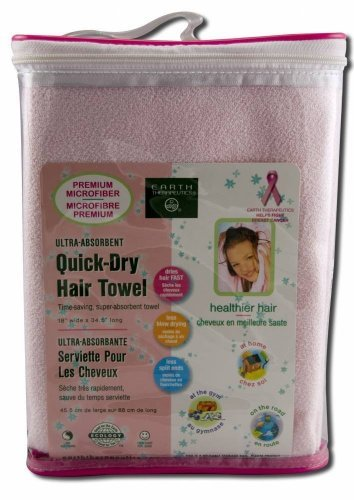 Ultra Absorbent Quick Dry Towel Pink 1 Count ()