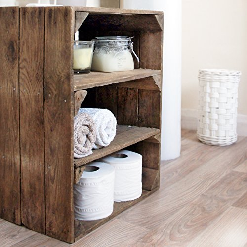 Wooden Apple Crate; handmade in Kent, a 2-shelf unit for storage/display by Vintage Apple Crates
