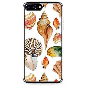 iPhone 7 Plus Transparent Edge Phone Case Beach Phone Case Sea Shell Phone Case Orange