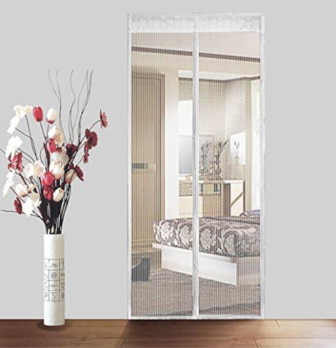 Cortina mosquitera magnética para puertas blanca Malla super fina cortina mosca Magic mesh cortina Anti insectos moscas mosquitos Deja entrar aire fresco,Manos libres-Blanco 110x230cm(43x91inch): Amazon.es: Hogar