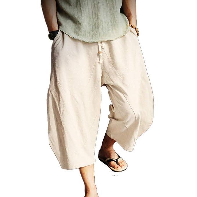 ac55da7a7ac BoBoLily Pantalones De Entrenamiento De Los Hombres Pantalones De Playa  Suelta Hombres Hombres Pantalones Casuales De Color Sólido Pantalones  Ocasionales ...