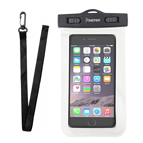 Insten Outdoor Waterproof Dry Bag PVC Carrying Case Pouch W/ Lanyard For Huawei Google Nexus 6P, LG Google Nexus 5X, Apple iPhone X/8/8 Plus7/7 Plus/6s; Galaxy S7 Edge/S7; LG HTC Nokia, White
