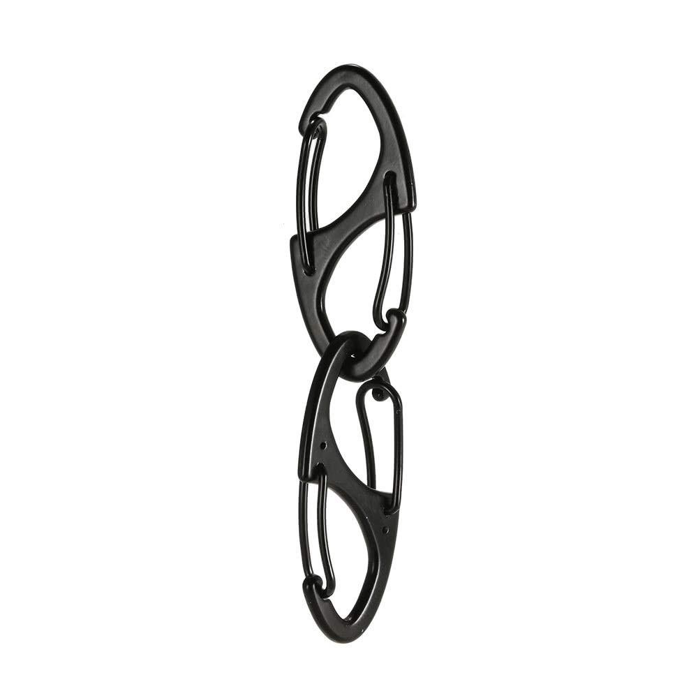 10 ST/ÜCKE Mini Legierung S-biner Clips Schnallen Metallhaken EDC Schl/üsselbund Haken Taktische Rucksack H/ängen Schnalle f/ür Den T/äglichen Gebrauch