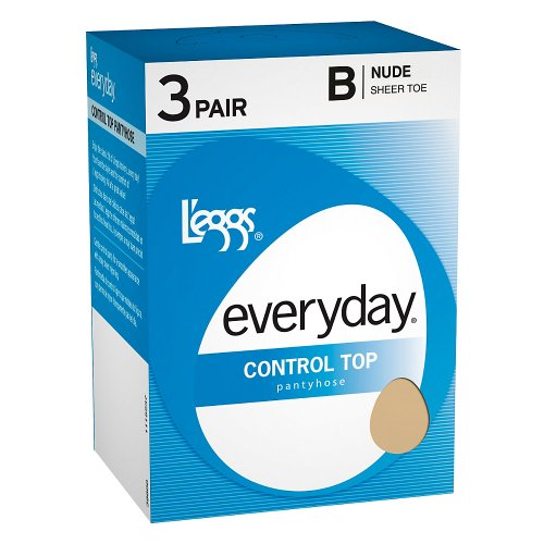 L'eggs Everyday Control Top ST 3 Pair,B,Off (Day Sheer Control Top Pantyhose)