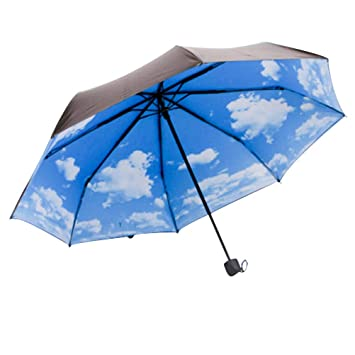 VORCOOL Tres Paraguas Plegable, Paraguas de Golf de Viaje al Aire Libre a Prueba de
