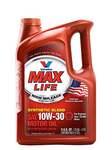 Valvoline High Mileage with MaxLife Technology 10W-30 Synthetic Blend Motor Oil - 5qt (779462)