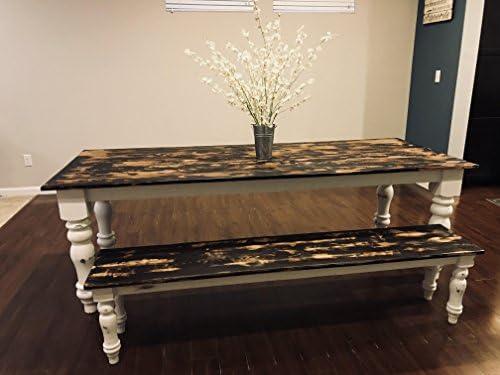 Prime Amazon Com Handmade Heirloom Farmhouse Table W Bench 2 Frankydiablos Diy Chair Ideas Frankydiabloscom