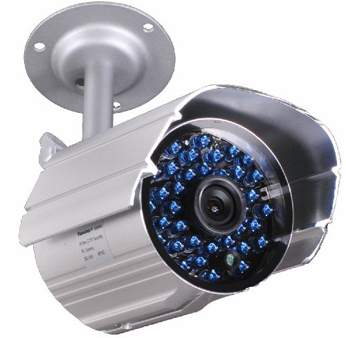 VideoSecu Infrared Day Night Vision Outdoor Bullet Security Camera 520 TVL 36 IR LEDs Built-in IR-Cut filter switch with Free Power Supply and Extension Cable IR808HN WK5