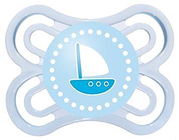 Amazon.com: MAM Perfect Chupete de silicona, 0-6 meses, Azul ...