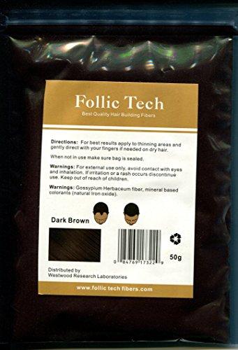 Dark Brown Keratin Hair Building Fibers 57 grams Refill Your Existing Bottle by Follic Tech