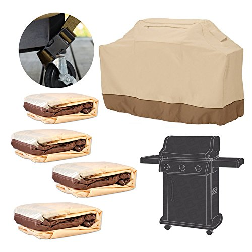 Home Garden Veranda BBQ Grill Cover Water Resistant Barbeque Grill Covers Large 64-Inch