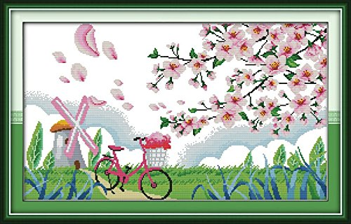 Breeze Canvas Mesh (Good Value Cross Stitch Kits Beginners Kids Advanced -Gentle Breeze In Spring 11 CT 28