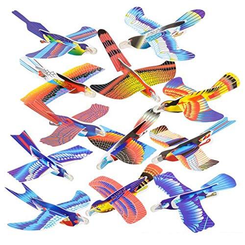 OIG Brands Foam Glider Planes for Kids - Bulk Birthday Party Favors Prizes Styrofoam Flying Airplane (7