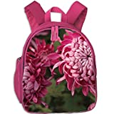Boy's and girl Printed Chrysanthemumflower Rucksack School Backpack Bookbag