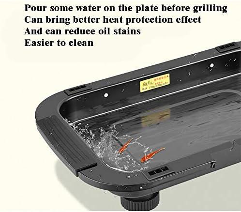 Grill, Barbecue Électrique. 1300W. Avec De L'eau : Évite La Fumée Et Utilisation En Intérieur. Bac De Récupération Des Graisses Apte Lave-Vaisselle
