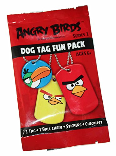 Angry Birds Dog Tags - EnterPlay Angry Birds Series 1 Dog Tag Fun Pack