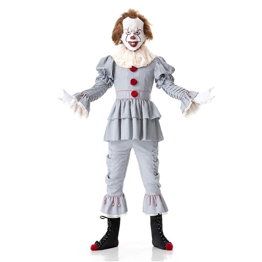 NCTM Halloween Clown Kostüm Set für Unisex Lustige und Scary Cosplay Polyester Braze (größe : M)