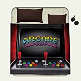 Video Games survival blanket Arcade Machine Retro Gaming Fun Joystick Buttons Vintage 80s 90s Electronicspace blanket Multicolor