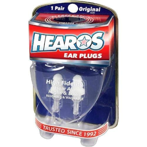 HEAROS High Fidelity Musician Ear Plugs Ultimate In Comfortable And Hearing Protection Professional Musicians Earplugs Noise Cancelling Earplugs For Concerts Motorcyclists Loud Events (1 Pair) (Studio Center Ultimate Control)