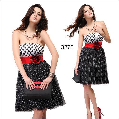 Ever Pretty Women's Charm Strapless Polka Mini Dress
