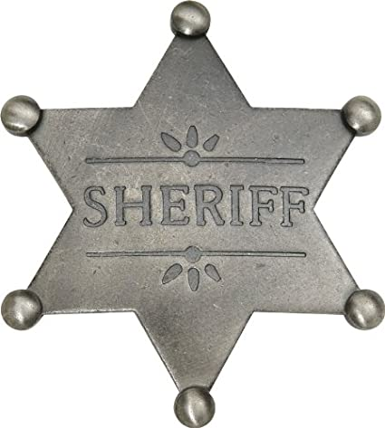 amazon com badges of the old west mi3018 brk sheriff badge sports