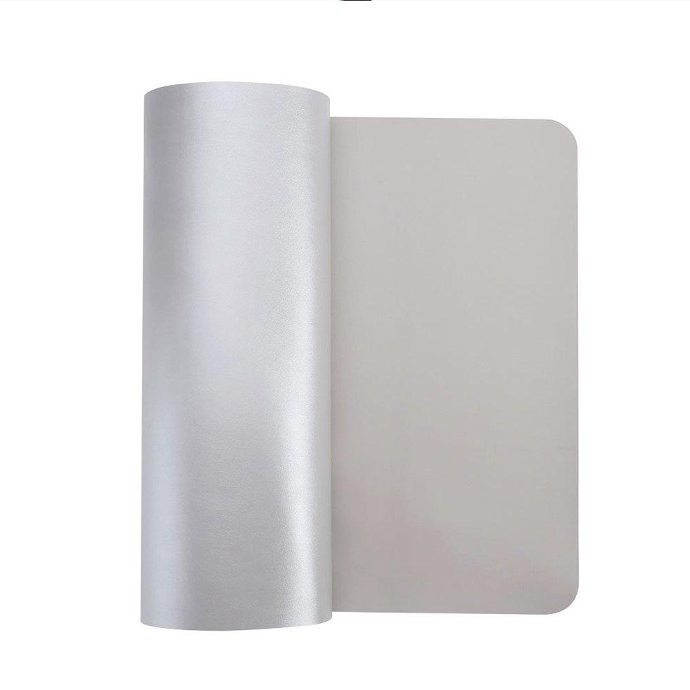 ultrafina de 2/mm Alfombrilla para rat/ón de piel sint/ética resistente al agua para escribir Silver 80 x 40 cm Jian Ya Na la oficina y el hogar color Gray