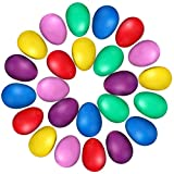 Egg Shaker Set,3O Pcs Plastic Maracas Eggs Mucical Instruments for Babies Kids,Percussion Musical Egg Maracas Kids Toys with 6 Different Colors for Party Favors Musical Toys