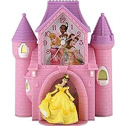 Ashton Sutton Princess Castle Quartz Analog Bank Alarm Clock