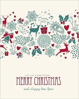 Christmas List Organizer.Gift List Card Tracker Merry Christmas Happy New Year