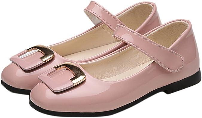 iFANS Girls Ballet Shoes Leather Ballet Slipper//Ballet Shoes Toddler//Little Kid//Big Kid